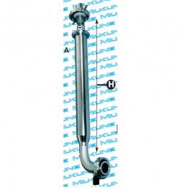 Фильтр молочный 455 мм с отводом 90°